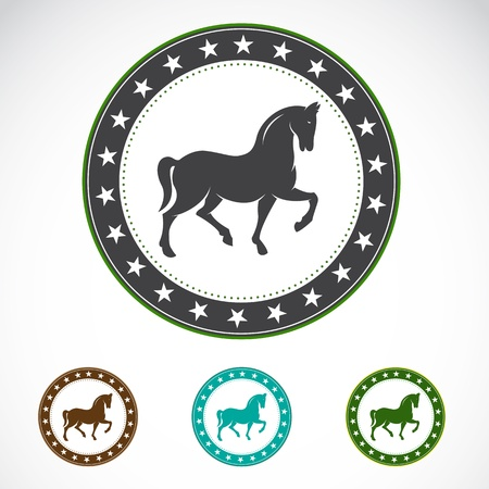 Set of horse label on white background Stock Vector - 19372373