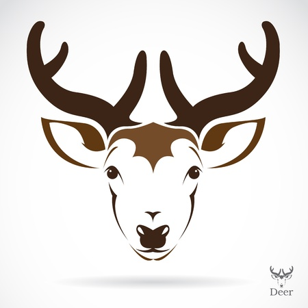illustration of deer symbol - tattoo Vector
