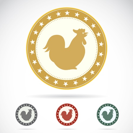 Set of cock label on white background Vector