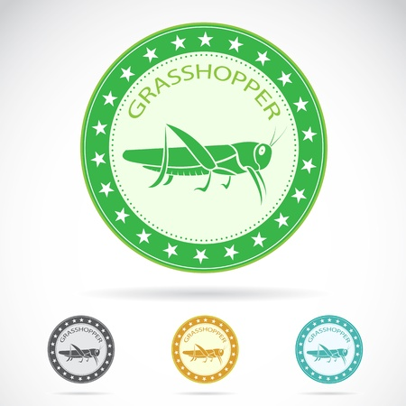 Set of grasshopper label on white background Vector