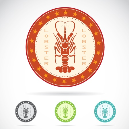 Set of lobster label on white background Vector