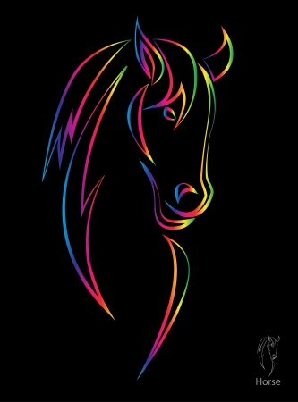 paddock: image of an horse on black background