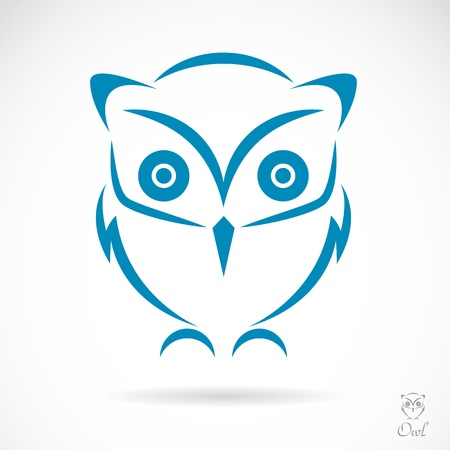 image of an owl on white background Vector