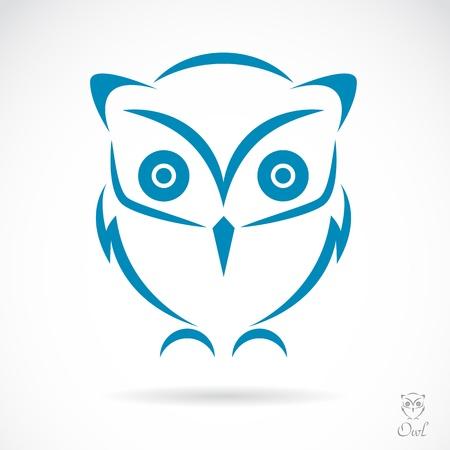 image of an owl on white background Vektorové ilustrace