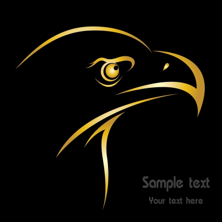 Head of an eagle in the form of the stylized tattoo Vector