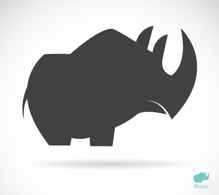 Vector image of an rhino on white background Vector
