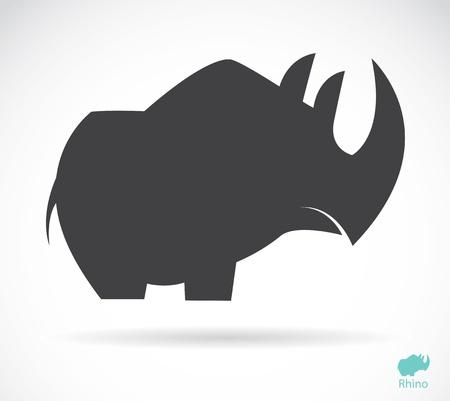 nashorn: Vektor-Bild von einem Nashorn auf weißem Hintergrund Illustration