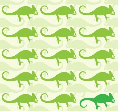 Wallpaper images of chameleon - vector, Illustrations Vector