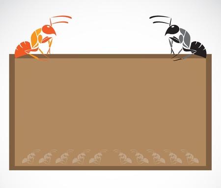 School blackboard with ant - vector illustration. Vector