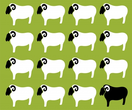 Wallpaper images of sheep - vector, Illustrations Vector