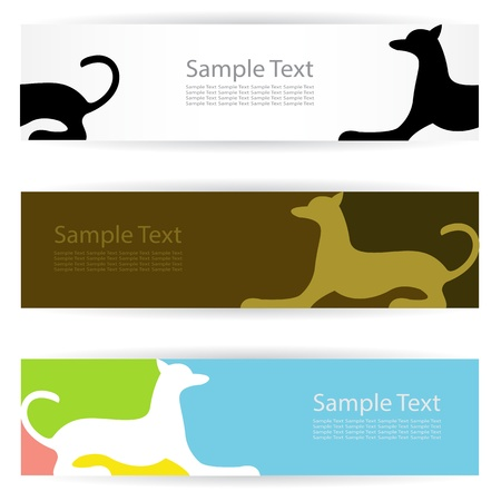 Vector image of an dog banners . Vector