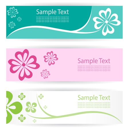 Vector image of an flower banners . Vector