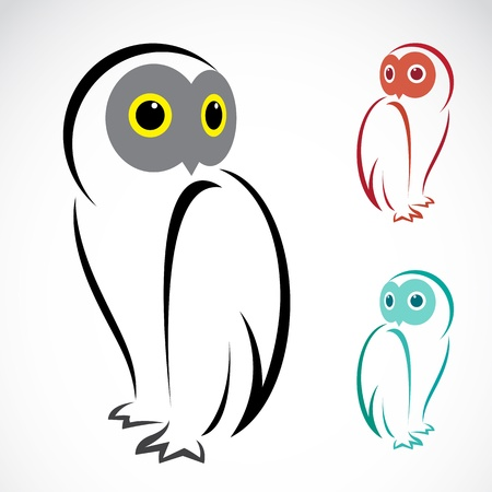 image of an owl on a white background Vector