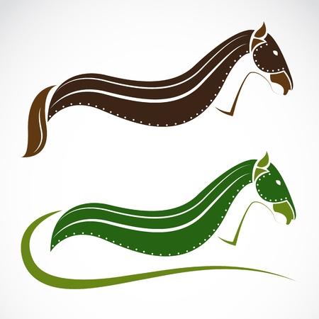 pedigree: image of an horse on white background  Illustration