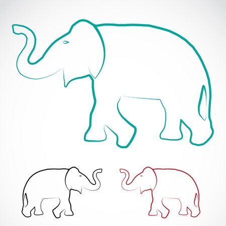 image of an elephant on a white background Illustration