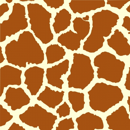Seamless spotted Giraffe Skin Background.  Vector