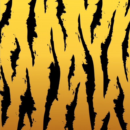 african fabric: black and orange stripped tiger design