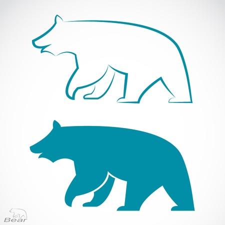 白の背景にクマの画像  イラスト・ベクター素材