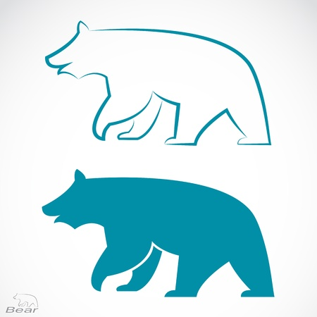 image of an bear on white background  Vector