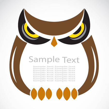 The design of the owl on white background Vector