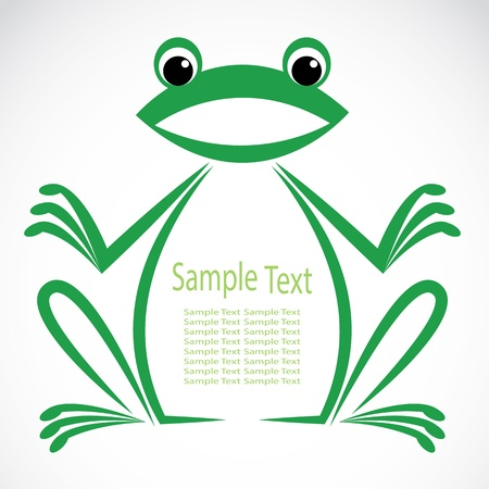 image of an frog on white background Stock Vector - 21073350