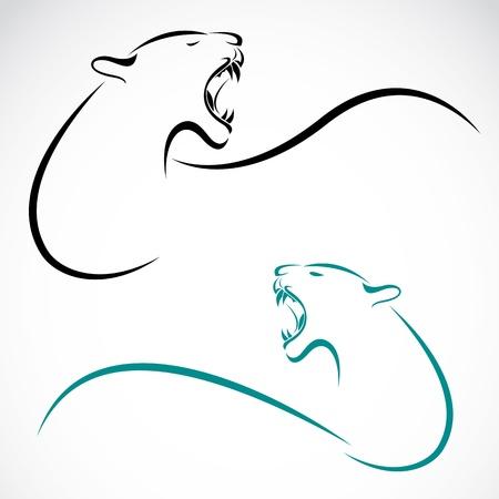 silueta tigre: imagen de un tigre en el fondo blanco Vectores