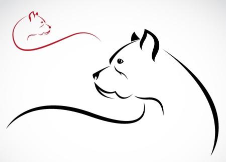 foso: imagen de un pitbull en el fondo blanco Vectores