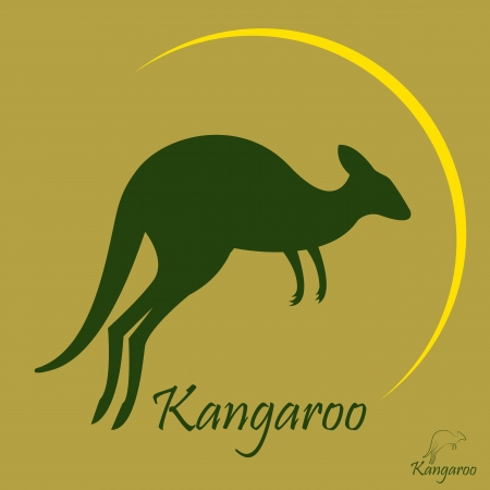 image of an kangaroo on a brown background Stock Vector - 21704085