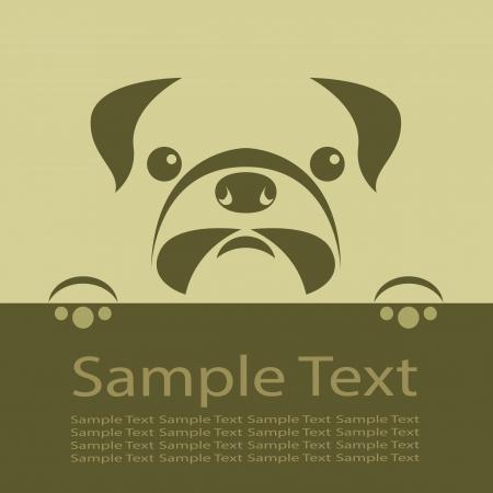 perro caricatura: Vector de imagen de un cachorro de pug