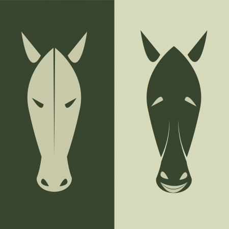 Vector image of an horse mask  Vector