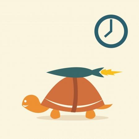 tortoise:  Vector image of an turtle rocket