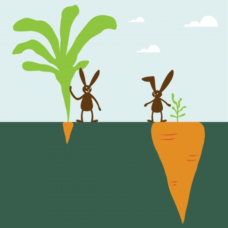 top animated: Rabbit and carrot