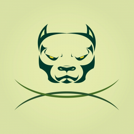 bull dog: Vector image of head Dog Pitbull. Illustration