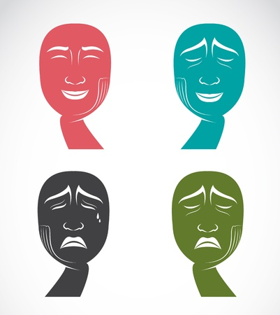 cry icon: Different facial expressions  Illustration