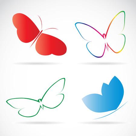 groep van vlinders Stock Illustratie