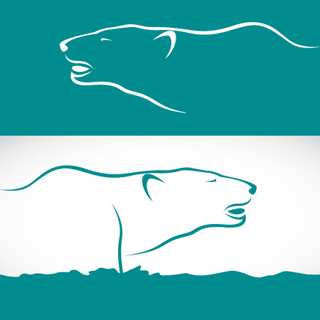 Vector image of  two bears   Vector