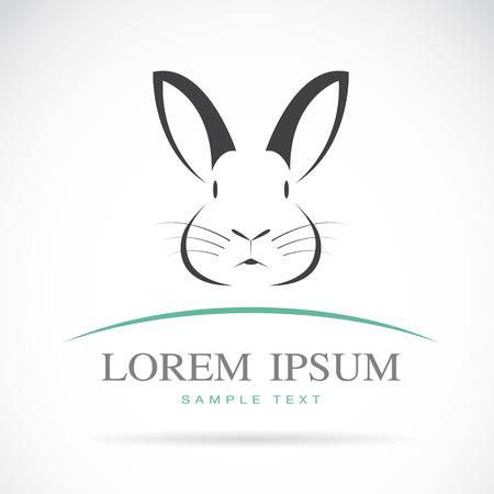 Vector afbeelding van een konijn op witte achtergrond Stock Illustratie