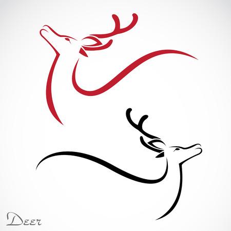 Vektor-Bild von einem Hirsch auf weißem Hintergrund