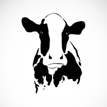lait: l'image d'une vache sur fond blanc Illustration