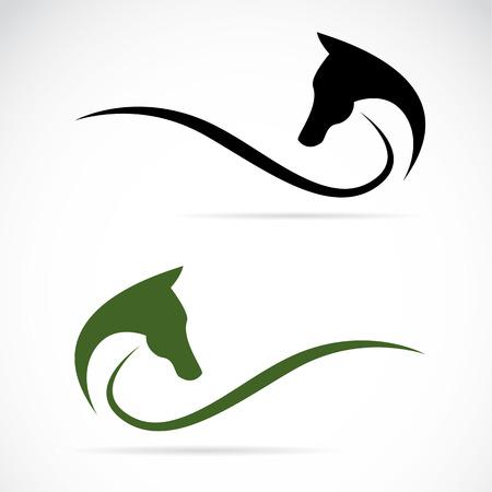 purebred: image of a horse on white Illustration