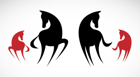 horse silhouette: image of an horse on white