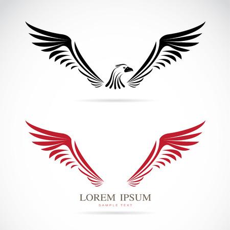 Vektor-Bild von einem Adler auf weißem Hintergrund