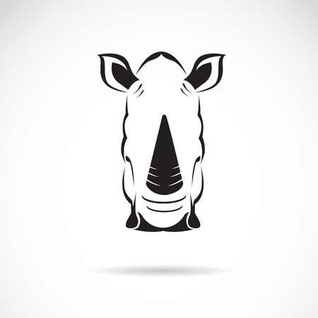 Vector image of an rhinoceros head on white background Illustration