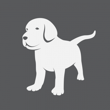 outline drawing: Vector image of an Labrador puppies  Illustration