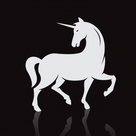 image of an unicorns on black Vector