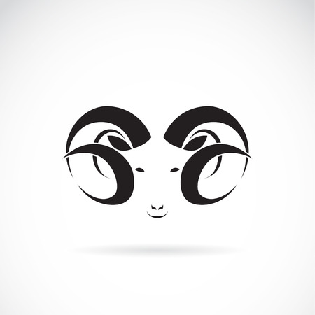 Vector image of an big ram on white background Vector