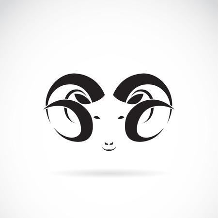 pecora: Vector immagine di un grande ram su sfondo bianco