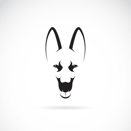 Vector image of an german shepherd face on white background Vector