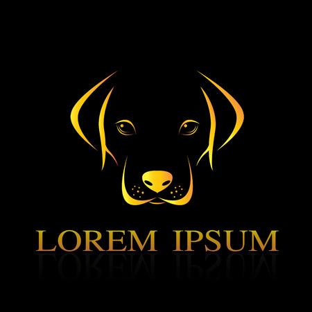 Vector afbeelding van een hond labrador op een zwarte achtergrond Stock Illustratie