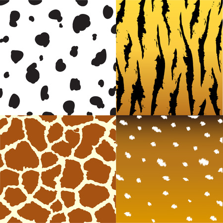 snake skin pattern: Seamless animal skin texture fabric set